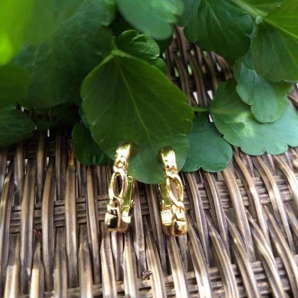 3/$25 'gold' rectangular huggy chain loop…